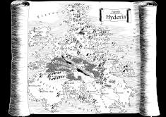 Karte von Hyderia - Schwarz-Weiß