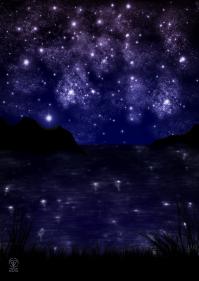 Nachthimmel am Meer
